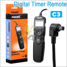 PROST Intervalometer Timer Remote Cord Shutter Release for CANON EOS 10D 20D 30D 40D 50D 1DS 5D MARK II 7D MCC3 Camera Wholesale