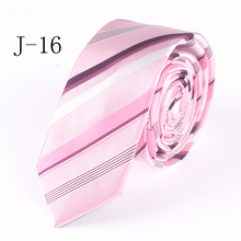 Fashion 5cm Design Tie Pink Striped Necktie High Quality Classic Jacquard Woven Gravatas for Adult(China)