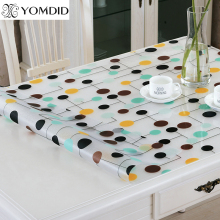 Flower Dot soft glass tablecloth color PVC crystal plate dining table pad mat desktop Flower printing waterproof Tablecloth 1mm