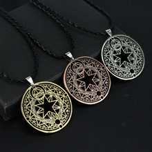 Anime Cardcaptor Sakura Kinomoto Necklace Sakura Magic Circle Cosplay Necklace Card Captor Figure Pendant KINOMOTOSAKURA Jewelry