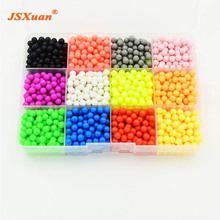 JSXuan 12 Colors Water Aquabeads sticky perler beados pegboard set fuse beads jigsaw puzzle Water beadbond educational diy toys(China)