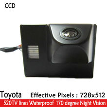 CCD Rearview Camera for Toyota Land Cruiser Reverse Camera Waterproof HD Night vision Parking line display