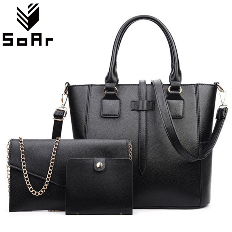 SoAr Top-Handle Bags Handbags Women Famous Brands Chains Women Messenger Shoulder Bag PU Leather 2017 New Vintage Ladies Totes <br>
