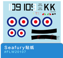 decal set for Freewing Flight Line Seafury rc airplane model