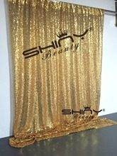 3FT*8FT Gold SEQUIN PHOTO Backdrop, Photo Booth Backdrop, Ceremony Backdrop, DIY Photobooth, Head Table Backdrop(China)
