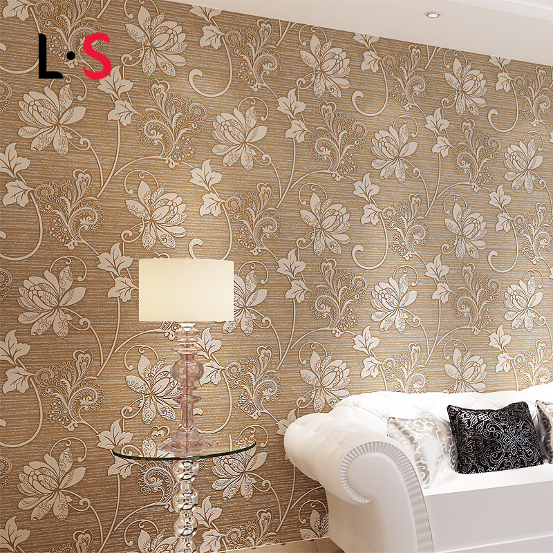 Wallpaper European Floral Damask Murals Papel Parede Embossed Classic Rural For Bedroom Livingroom Sofa Backdrop Wall SWP16-039<br><br>Aliexpress