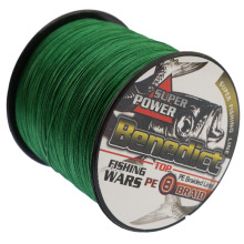 500M Super Strong Japan Multifilament PE Braided green Fishing Line super fishing thread 8 strands fishing wires for sales(China)