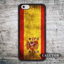 Vintage Spain Flag Protective Case For iPhone 7 6 6s Plus 5 5s 5c 4 4s and For iPod 5 High Quality Retro Ultra Phone Cover