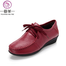 Buy MUYANG MIE MIE Plus size (34-42) women genuine leather flat shoes woman Loafers fashion female casual single shoes women flats for $25.45 in AliExpress store
