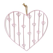 Metal Heart Lattice Wall Hanging Photos Heart Postcard Frame Iron Storage Rack Holder Home Bedroom DIY Decoration Supplies(China)