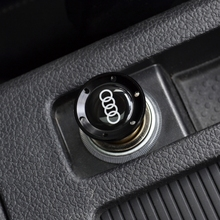 Black Aluminum Light Car Cigarette Lighter For AUDI A1 A3 A4 A5 A6 A7 A8 Q3 Q5 Q7 R8 RS5 RS7 S5 S8 RS8(China)