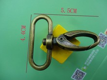 For 38mm Webbing 5pcs Antique Brass Plated Alloy Lobster Clasp Claw Swivel Clips Snap Hook Trigger Style