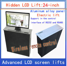 LCD, TV Lifter \ hidden \ Monitor Lifts \ lift bracket \ LCD electric lift \ wireless remote control movements \ 24-inch lift(China)