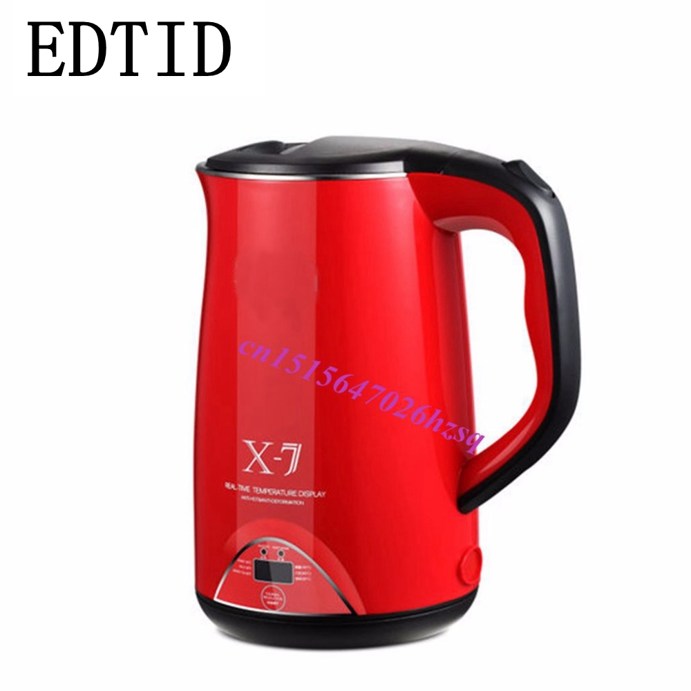 EDTID 1.7L stainless steel automatic electric kettle thermal insulation kettle 220V<br>