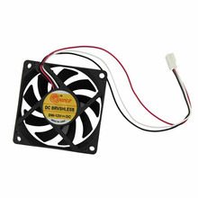 2017 High Quality Computer Case Cooler 12V 7CM 70MM PC CPU Cooling Cooler Fan Black Heat Sink Small Cooling Fan PC