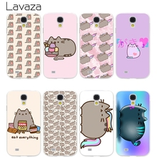 Lavaza Pusheen Cat Hard Transparent Cover Case for Samsung Galaxy S7 Edge S6 S8 Edge Plus S5 S4 S3 & Mini S2