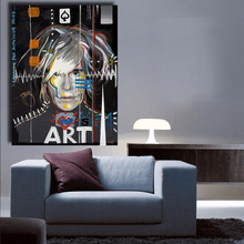 HDARTISAN Andy Warhol Painting Celebrity Culture and Advertisement that Flourished Wall Art Canvas Paintings for Living Room(China)