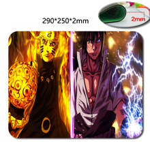 290*250*2mm Cartoon naruto Background pattern soft Speed Game Animation Computer Silica gel Rectangular Mouse Mat Mices Pads