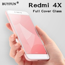 xiaomi redmi 4x case Full Cover For Xiaomi Redmi 4x Tempered Glass Red mi 4x 4 x Screen Protector Film mi4x glas Xiaomi Phone