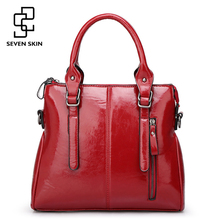 SEVEN SKIN 2017 New Fashion Designer Women Handbags Large Casual Tote Bags Shoulder Bag Leather Women Messenger Bag with Zipper
