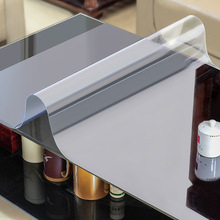 Soft glass Tablecloth waterproof Transparent pvc tablecloth for square table cover Oil cloth plastic table cloths for kitchen