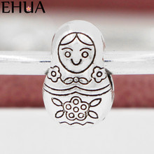 Free Shipping Sliver Bead Charm Baby Girl Accessories Beads Fit Pandora Bracelets & Bangles DIY Jewelry SPB141