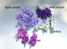 "30Pcs 8cm3.15"" Length Dark Purple/Light Purple/White/Lilac Artificial Handmade Flower Head Simulation Lavender Flowers"