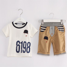 Anlencool Brand Summer Baby Clothing Set Foreign Trade Children's Clothes Suit Short-sleeved Boy boys summer clothing(China)