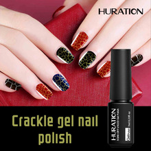 Huration Professiona 12 Colorful Crackle Shatter Gel Nails Polish Cracking UV Nail Gel Semi Permanent Soak Off Led Gel Nail(China)