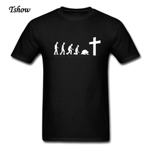 Team Jesus Evolution T Shirts Man Cotton Short Sleeve Big Size Team Jesus T Shirt For TeenBoys Classic XS-XXXL T-Shirt Clothes