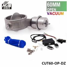 "Exhaust Control Valve CUTOUT 2.3"" 60mm Pipe Open Style With Vacuum Actuator with Wireless Remote Controller Set HU-CUT60-OP-DZ"