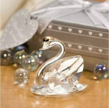 Best Selling Wedding Favors Choice Crystal Collection K9 High Quality Crystal Kissing Swans+100pcs/lot+FREE SHIPPING(China)