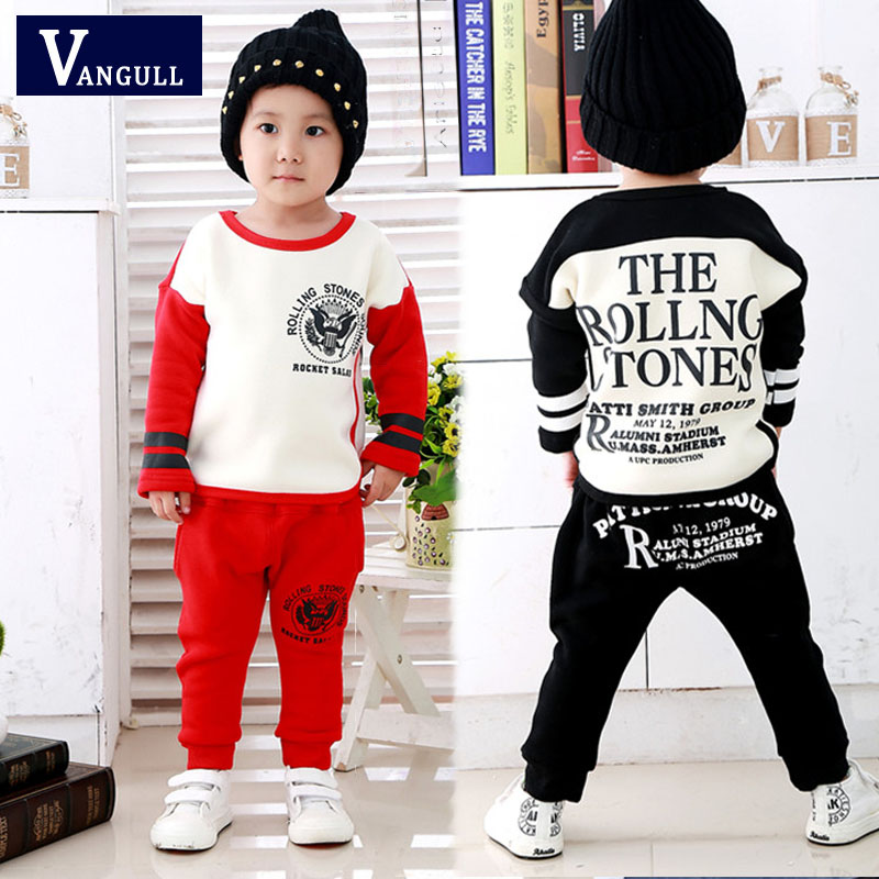 2017 autumn and winter hot new children suit boy cotton round neck letters printed eagle Set<br><br>Aliexpress