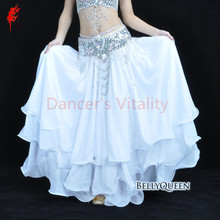 High quality belly dance clothes baru Leafroll double slit ear chiffon Belly Dancing skirt for women belly dance costumes