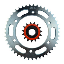 High Performance Motorcycle 15T Front & 45T Rear Sprocket Kit Set For Yamaha YBR250 2007-2011(China)