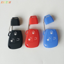 Silicone Car Key Cover Case Shell for Mercedes For Benz W203 W211 CLK C180 E200 AMG C E S Class Keyrings Holders Accessories