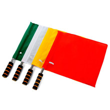 1PC Football Judge Sideline Flag Soccer Linesmen Flags Professional Soccer Referee Flain Football Training Equipment(China)