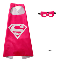 1set Rose Red Super Man Mask Iron Man Logan Cape Super Hero Cloak Cosplay Party Supplies Kids Happy Birthday Children's Day Gift