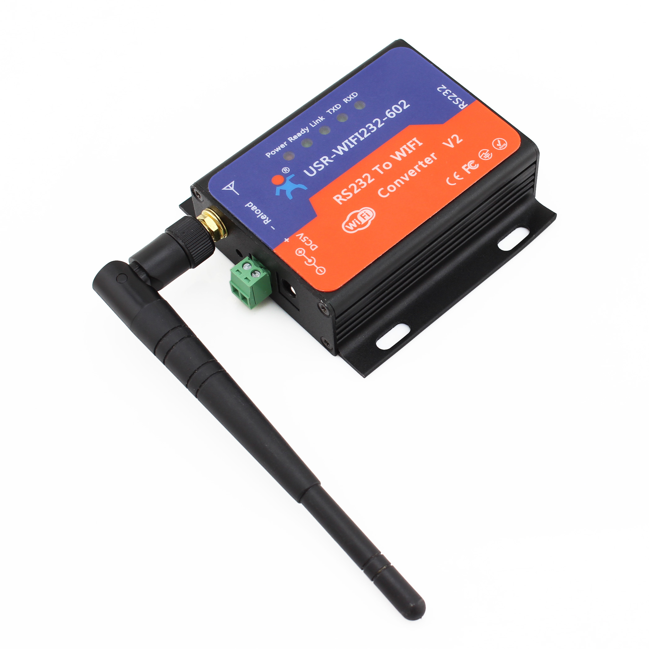 USR-WIFI232-602 V2 RS232 WIFI converters RS232 to Wireless 802.11 b/g/n Converters with Router Function Q00196<br>