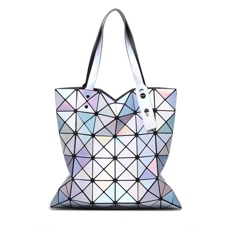 Women Handbags 2017 Fashion Laser Hologram Luxury Handbags Women Bags Designer Geometric Plaid Bag Casual Tote Top-handle Bag <br><br>Aliexpress