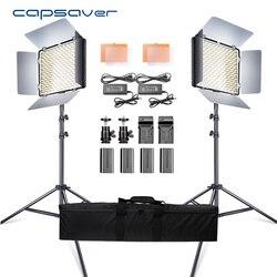 Capsaver 2 в 1 комплект светодиодный свет для студийной видеосъемки фото светодиодный панель фотографического освещения с штативом сумка батар...