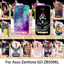 Soft TPU Smartphone Cases For ASUS ZenFone Go ZB500KL 5.0 inch Case Back Covers Dirt-resistant Skin Housing Sheath Bag Hoods