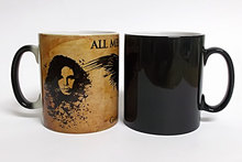 game of thrones mugs jon snow coffee mug Heat Sensitive mugs transforming cup cold hot heat changing color magic mug tea cups