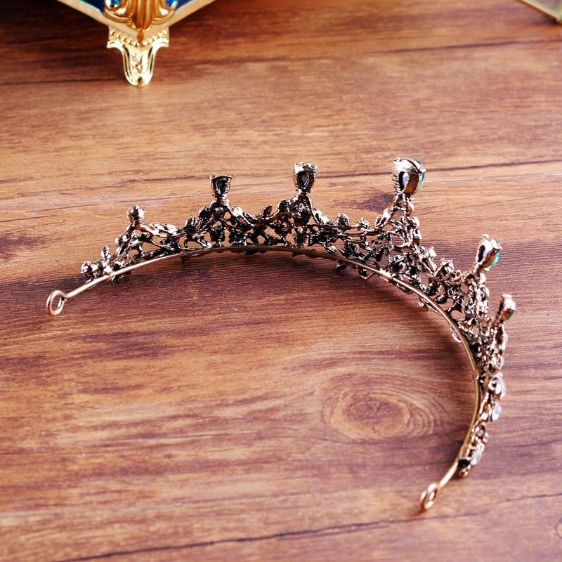 copper green crystal elegant bridal crown coroa de noiva boutique brides headwear wedding hair jewelry 6