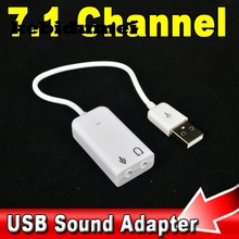 kebidumei Promotion price Driverless USB 2.0 Virtual 7.1 Channel External USB Audio Sound Card Adapter Sound Cards For Laptop PC
