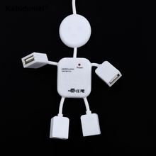 Kebidumei Hot 4 Ports usb hub Robot Splitter Mini USB Hub 2.0 Adapter For Laptop PC Computer For Game Mouse Car Reader Mp3(China)