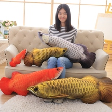 Creative simulation carp fish plush toy Cartoon dolls High quality and low price 60cm(China)