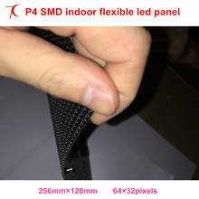 P4 indoor smd flexible full color led module use for special shapes led screen,256*128mm,16scan(China)