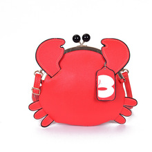 Cute Girls Crab Bag Unique Design Young Ladies Chains Messenger Bag Women Messenger Bag Crossbody Shoulder Bag Sac A Main Gift(China)