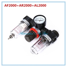 "AC2000 Air Filter Combination Trilink Pieces Port Size 1/4"" Pneumatic Parts Air Source Treatment Unit Pressure Regulator"